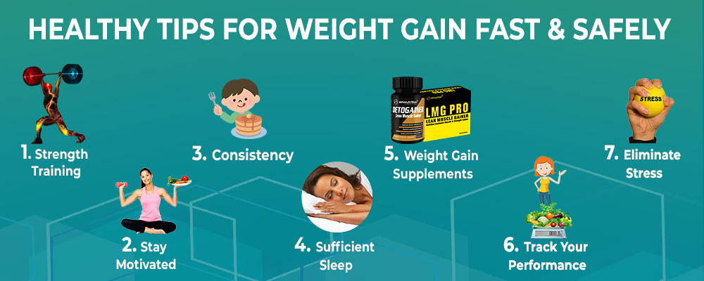 Healthy Tips to Gain Weight Fast